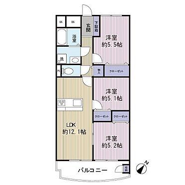 区分マンション-千葉市美浜区稲毛海岸4丁目 オール洋室で使いやすい間取りです。