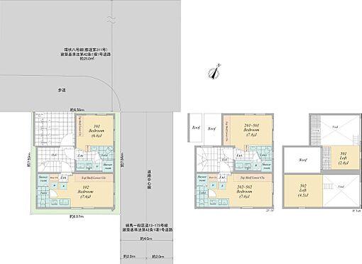 マンション(建物全部)-練馬区平和台2丁目 全体間取図