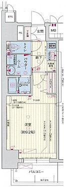 区分マンション-名古屋市中区新栄1丁目 間取り