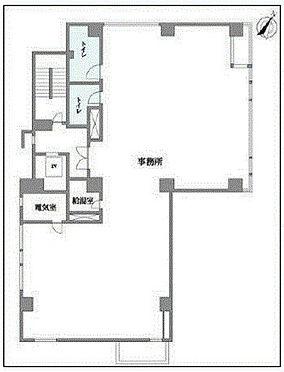 事務所(建物一部)-新宿区四谷4丁目 間取り