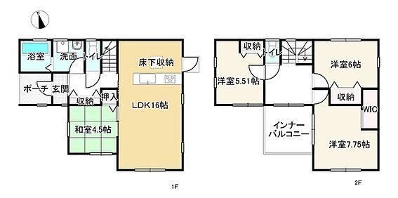新築一戸建て-姫路市継 間取り