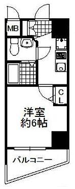 マンション(建物一部)-大阪市浪速区幸町3丁目 水回りと居室が分けられ、動線がコンパクトなプラン