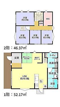 中古一戸建て-糟屋郡志免町片峰中央3丁目 4LDK+WIC、土地面積165.01m2、建物面積98.54m2