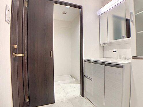 区分マンション-名古屋市西区鳥見町3丁目 ワイドな鏡で朝の支度もはかどります!