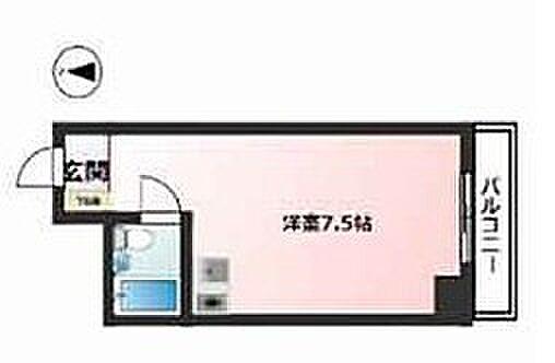 区分マンション-大阪市中央区高津2丁目 間取り