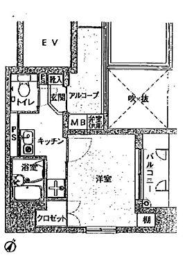 マンション(建物一部)-中央区勝どき4丁目 間取り