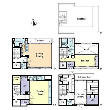事務所(建物全部)-港区南青山6丁目 地下1地上3階建ての都心形住宅