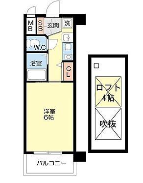 マンション(建物一部)-大阪市港区市岡元町1丁目 ロフトのある単身者向け物件