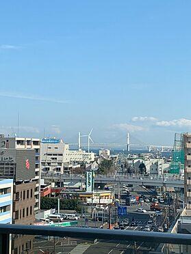 マンション(建物一部)-横浜市神奈川区東神奈川1丁目 共用スカイガーデンからベイブリッジを望む