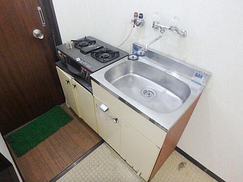 アパート-京都市伏見区深草大亀谷西寺町 2F 真ん中のお部屋、キッチン