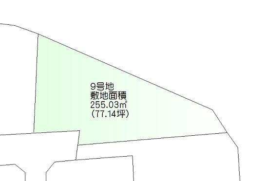 土地-仙台市青葉区北根4丁目 区画図