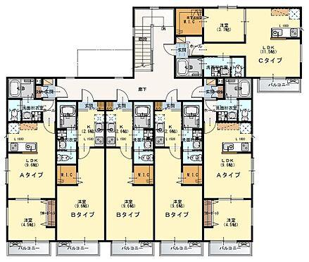 アパート-入間市東藤沢1丁目 2階間取図