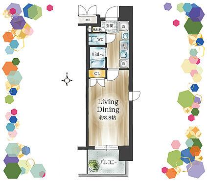マンション(建物一部)-名古屋市熱田区花表町 角部屋につき風通り良好のお部屋です。浴室・トイレ別のワンルームです。