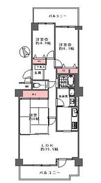 区分マンション-神戸市須磨区北落合6丁目 南向き二面バルコニー