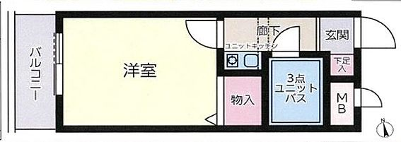 マンション(建物一部)-足立区梅田5丁目 間取り