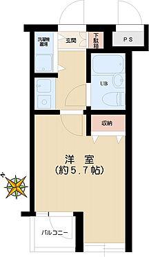 マンション(建物一部)-文京区千石2丁目 1K(約16.31平米)バルコニー(約1.33平米)