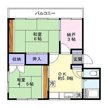 マンション(建物全部)-松戸市小山 間取り