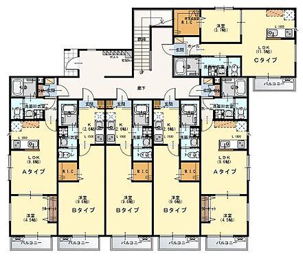 アパート-入間市東藤沢1丁目 1階間取図