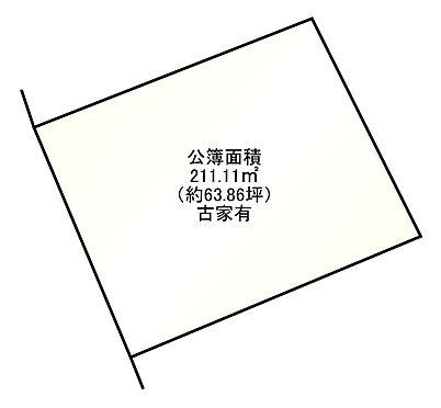 土地-京都市左京区上高野西明寺山 区画図