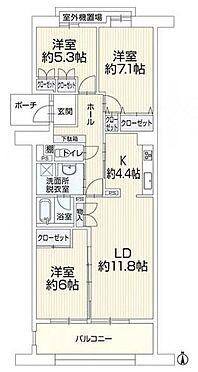 区分マンション-福岡市南区野多目3丁目 各部屋広々、オールフローリングの間取り♪