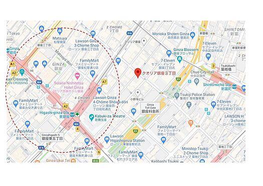 マンション(建物一部)-中央区銀座3丁目 地図
