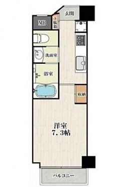 区分マンション-大阪市城東区東中浜6丁目 3点セパレートタイプの1K