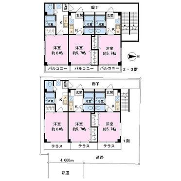 アパート-練馬区桜台4丁目 1K×9室