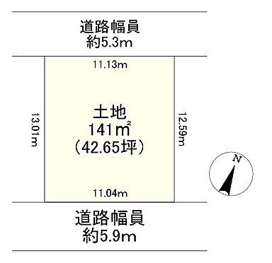 土地-神戸市西区押部谷町栄 区画図