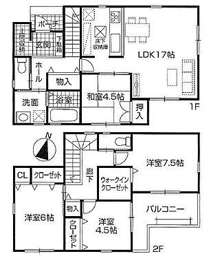 戸建賃貸-春日井市上条町2丁目 全室南向き!2階全室2面採光のため、陽当たり・風通し良好です!