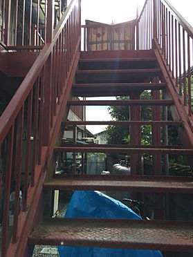 アパート-磐田市西貝塚 2階に上がる階段