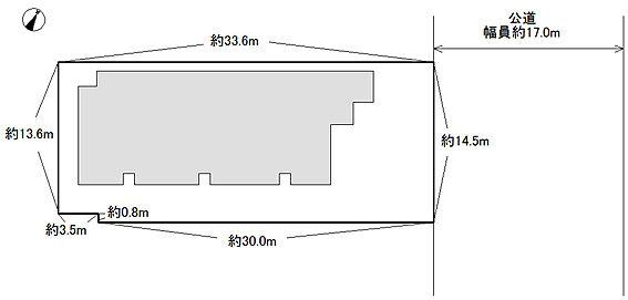 アパート-川口市末広3丁目 敷地図