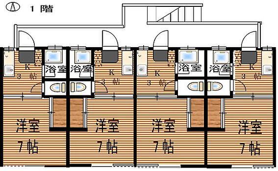 アパート-仙台市若林区二軒茶屋 1階間取り図