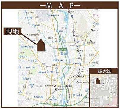 アパート-厚木市三田2丁目 地図