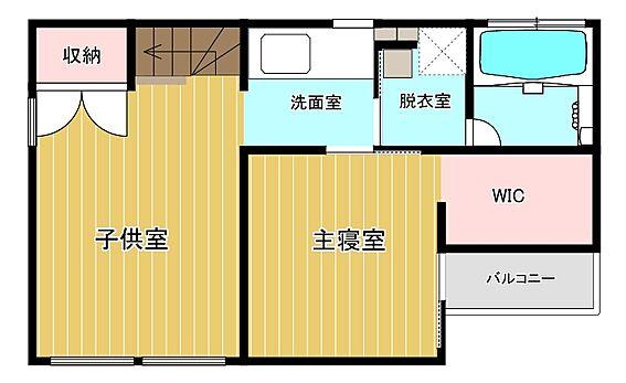 中古一戸建て-福岡市早良区梅林7丁目 2階間取り