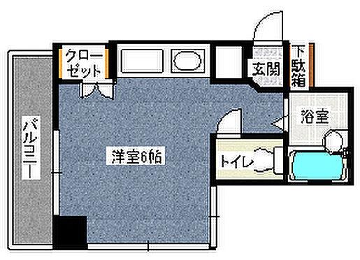 マンション(建物一部)-福岡市中央区清川3丁目 間取り