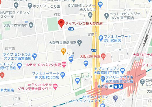 マンション(建物一部)-大阪市淀川区宮原5丁目 地図