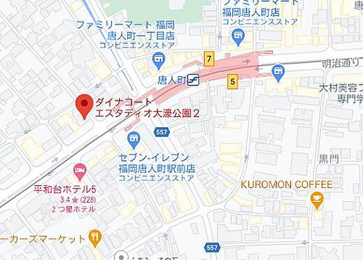 マンション(建物一部)-福岡市中央区地行1丁目 地図