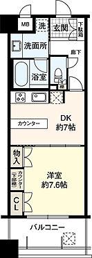 マンション(建物一部)-堺市堺区栄橋町1丁 間取り 専有面積40.26平米