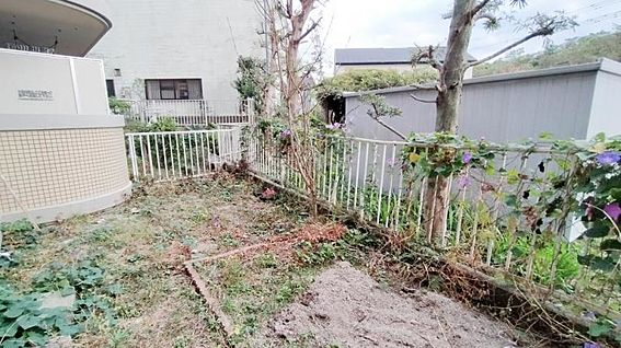 中古マンション-福岡市西区今宿青木 南庭です☆
