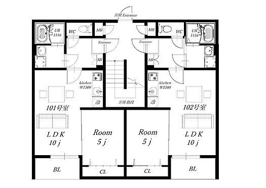アパート-大阪市旭区赤川4丁目 ●1LDK・全戸角部屋設計の新築アパートです