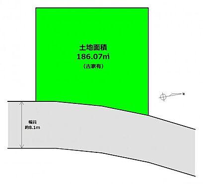 土地-仙台市太白区八木山松波町 区画図