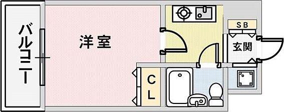 マンション(建物一部)-神戸市中央区東雲通1丁目 水回りがまとめられ生活環境に配慮された間取り