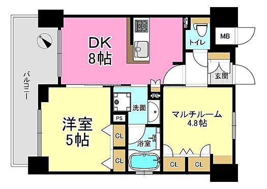 マンション(建物一部)-神戸市兵庫区湊町1丁目 各居室収納完備の2DK♪新婚さんにもオススメの間取りです♪現在94,930円で賃貸中(共益費込み)表面利回り5.29%♪詳細はお気軽にお問い合わせ下さい♪