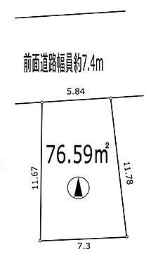 土地-横浜市神奈川区六角橋2丁目 区画図