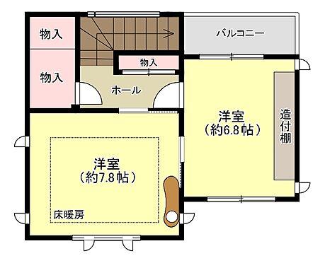 中古一戸建て-福岡市中央区平尾5丁目 3階間取り
