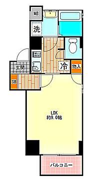 区分マンション-大阪市中央区島之内1丁目 間取り