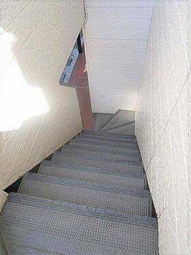 アパート-草加市八幡町 階段はノンスリップ仕様で安全性も良好