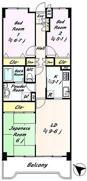 中古マンション-仙台市泉区七北田字八乙女 3LDKでファミリータイプにお勧めの物件です。