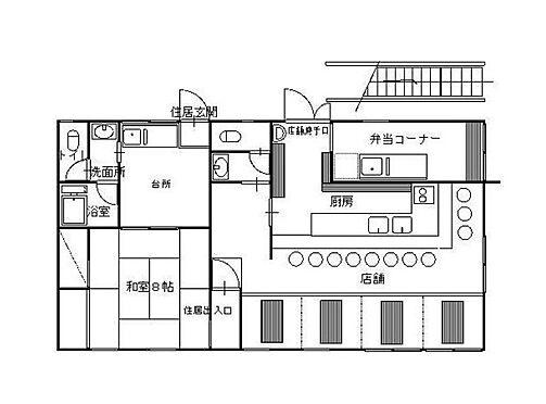 店舗付住宅(建物全部)-葛飾区新宿4丁目 間取り