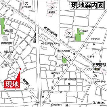 アパート-足立区梅田2丁目 地図